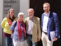 Konfliktlabor Schallaburg 2014 - v.l.: Judit Zeller, Frau Glasl, Friedrich Glasl, Peter Fritz