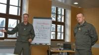 Kommandant der SK Generalleutnant Günter Höfler mit Moderator und CI-Headcoach Oliver Jeschonek